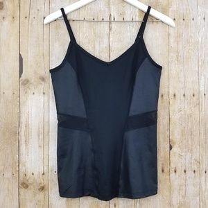 Fabletics Narwhal Tank Cami Mesh Black New (S)